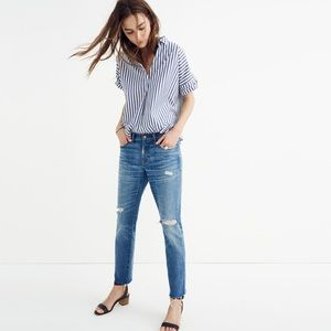Madewell. The Slim Boyjean. Raw-hem.